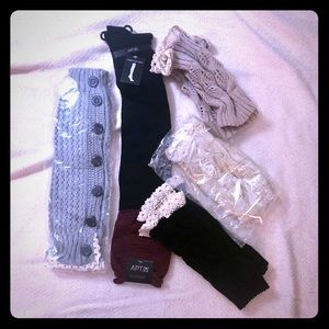 4 boot toppers & 1 pair over the knees boot socks